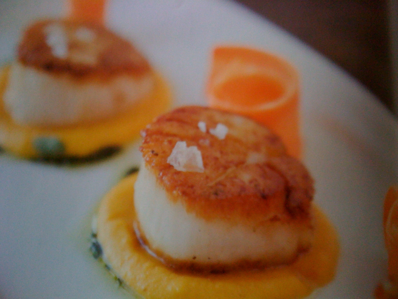 Cooking Becky Selengut: Seared scallops with carrot cream ...